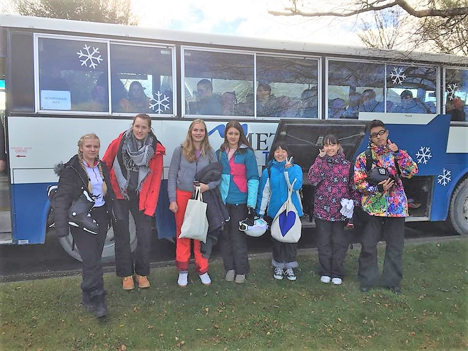 Departing for Wednesday afternoon Snowsports programme in Term 3